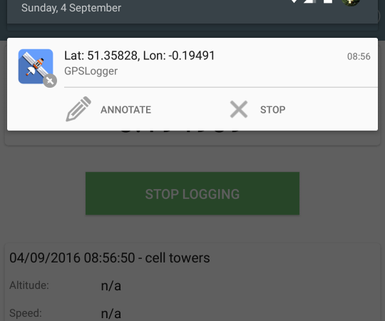 GPSLogger for Android
